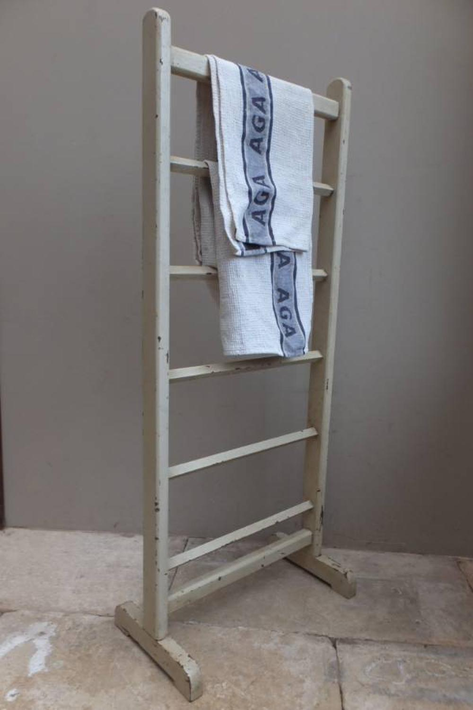 Antique Pine Towel Rail in Original Paint