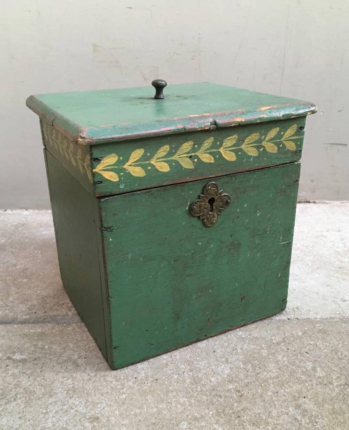 Victorian Pine Box in its Original Paint