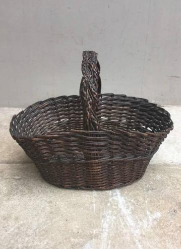 Late Victorian Basket with Plaited Handle