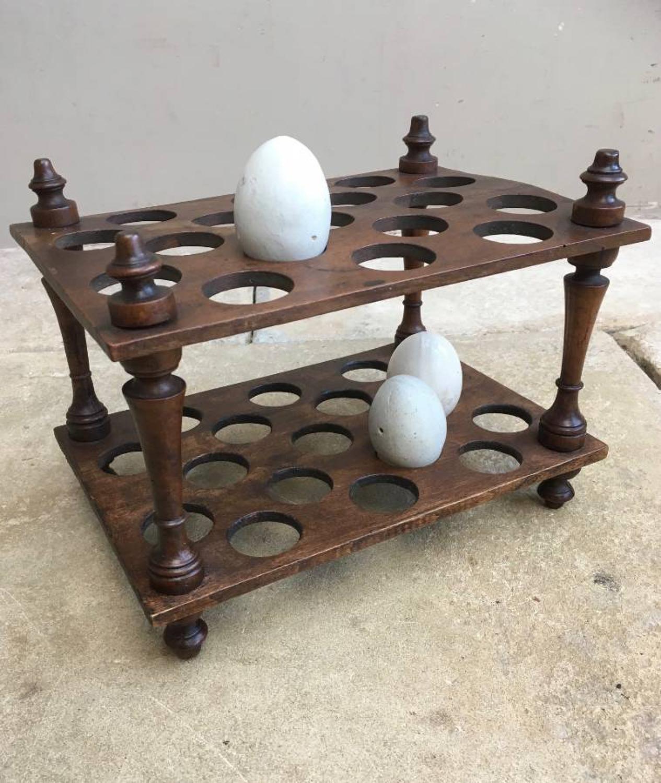 Victorian Treen Two Tier Egg Rack