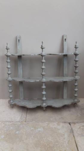 Victorian Painted Cotton Reel Shelves