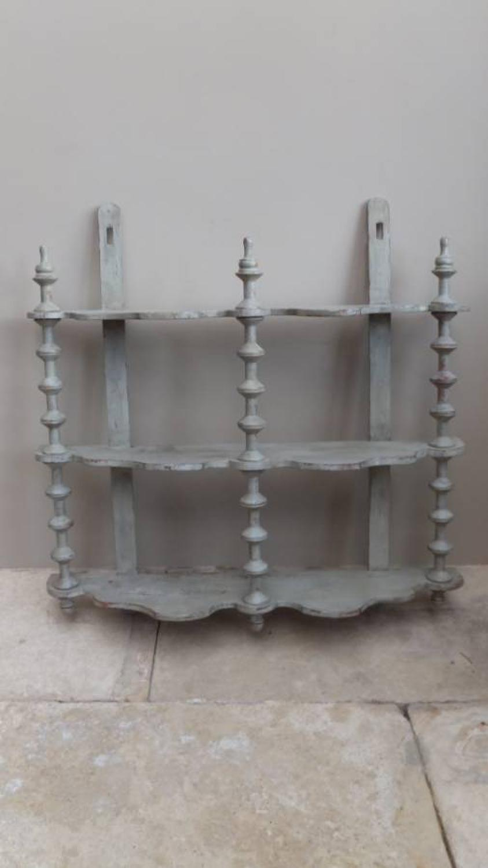 Victorian Painted Cotton Reel Shelves
