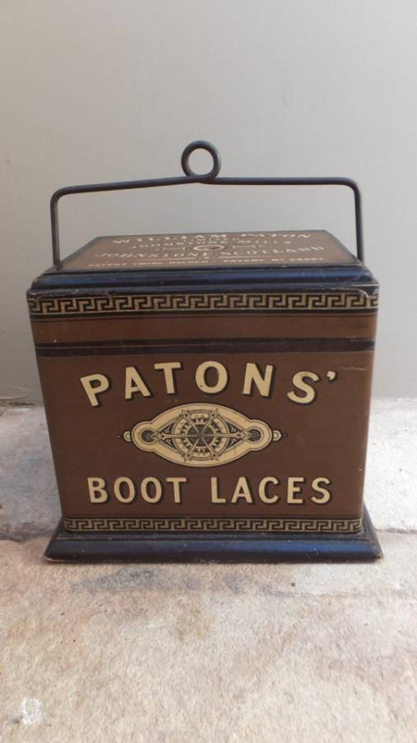 Edwardian Shops Advertising String Holder - Patons` Boot Laces