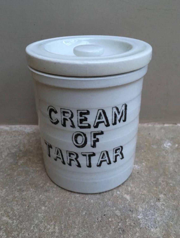 Rare Edwardian Kitchen Storage Jar - Cream of Tartar