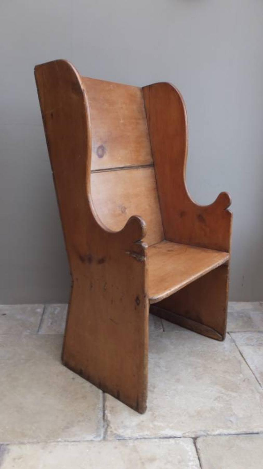 Early Victorian Pine Lambing Chair - Settle for One