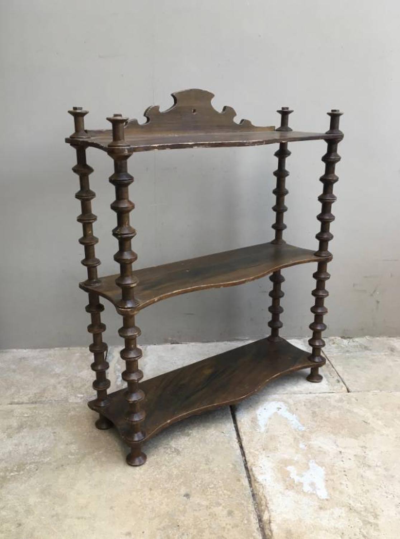 Victorian Pine Cotton Reel Shelves - Original Paint
