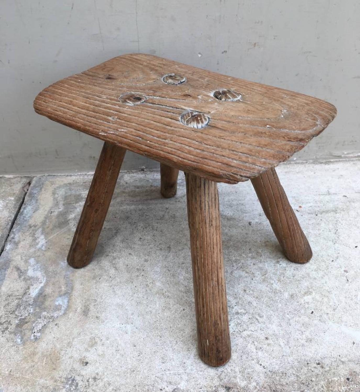 Victorian Small Pine Stool - Wonderful Original Piece
