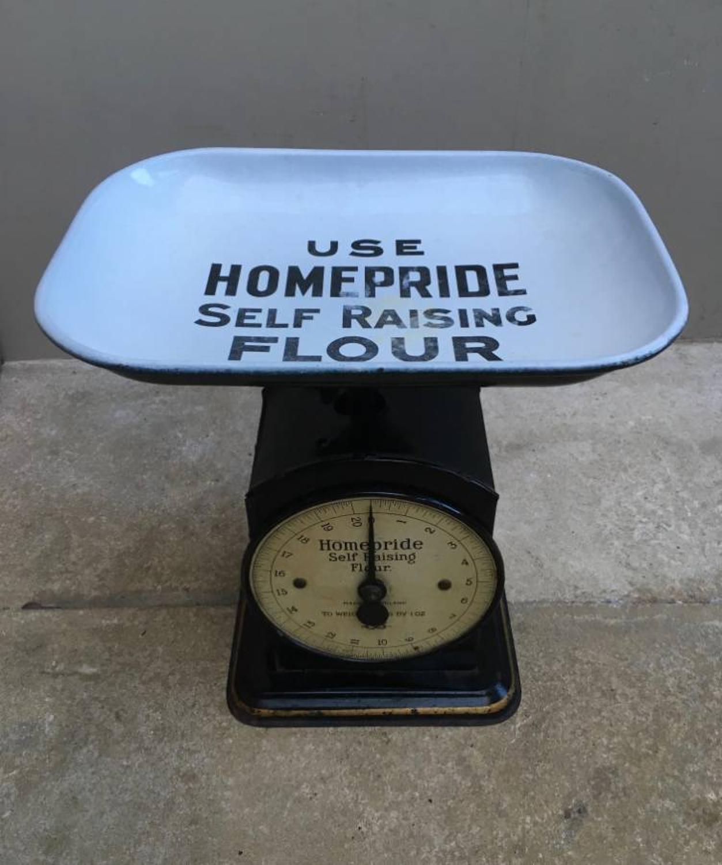 1940s Toleware & Enamel Advertising Homepride Self Raising Flour Scale