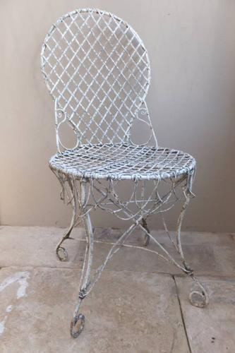 Victorian Wire Work Conservatory or Garden Chair