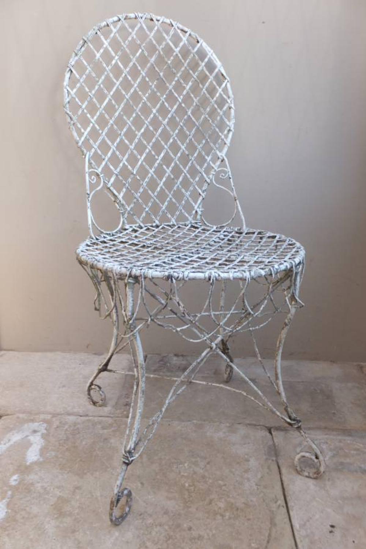 Victorian Wire Work Conservatory or Garden Chair