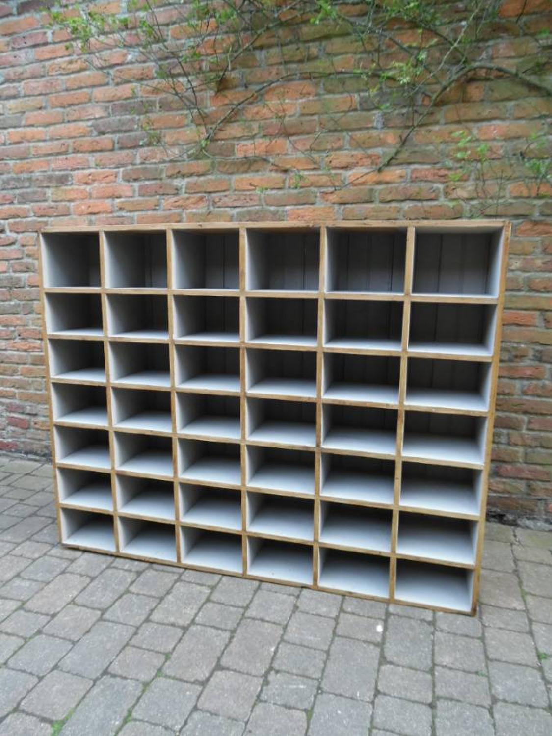 Large Victorian Pine Bank of 42 Pigeon Holes