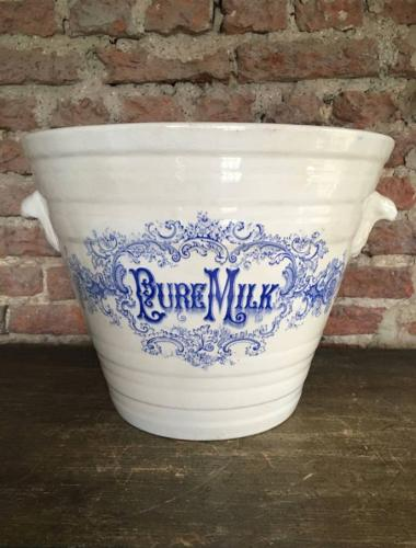 Late Victorian Pure Milk Pail - The Dairy Outfit Co. Ltd