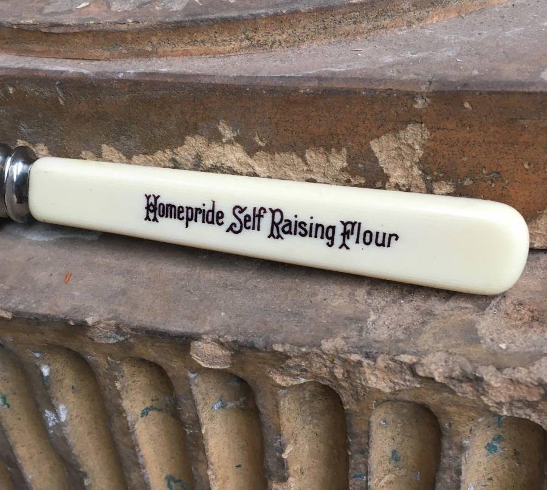 Early 20thC Advertising Bread Knife - Homepride Self Raising Flour