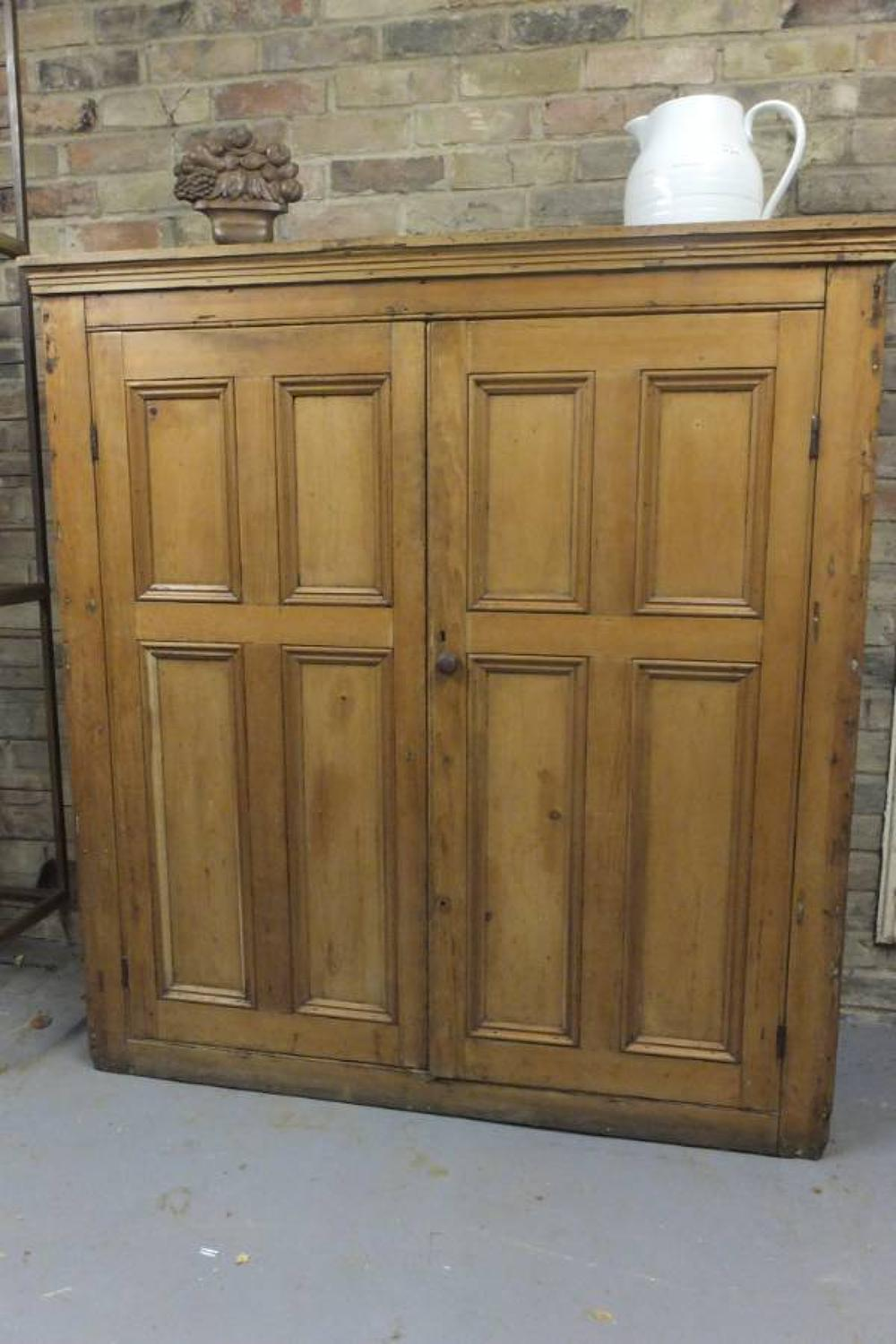 Victorian Pine Panelled Front Cupboard