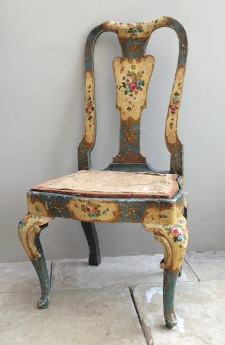 Late Victorian Painted Pine Chair