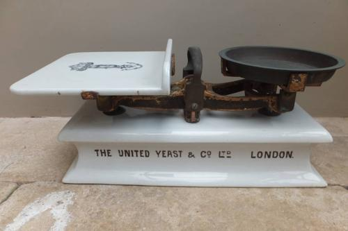 Very Rare Large Late Victorian Ironstone & Brass Scales - The United Y