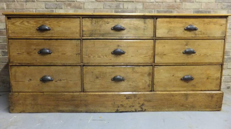 Victorian Pine Nine Drawer Base - Shop Counter