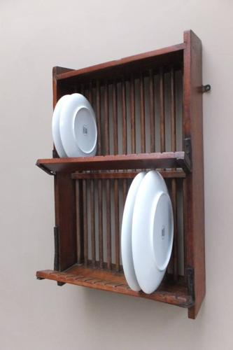 1930s Mahogony Wall Hung Plate Rack - Staines SW1