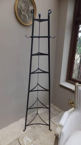 Victorian Wrought Iron Seven Tier Saucepan Rack