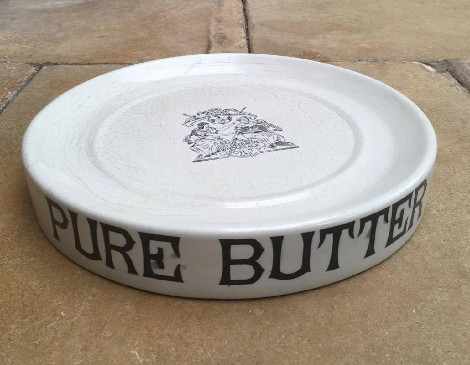 Edwardian Pure Butter Slab - Central Stamp for Scottish Co-Operative S