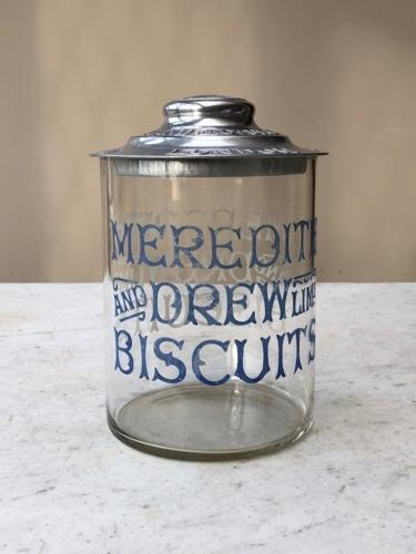 Wonderful Edwardian Shops Counter Top Meredith & Drew Advertising Jar