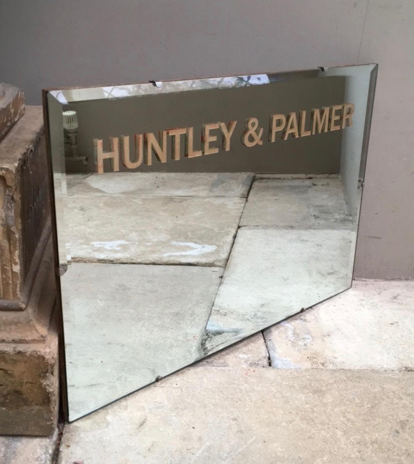 Superb Mid Century Shops Advertising Mirror for Huntley & Palmers
