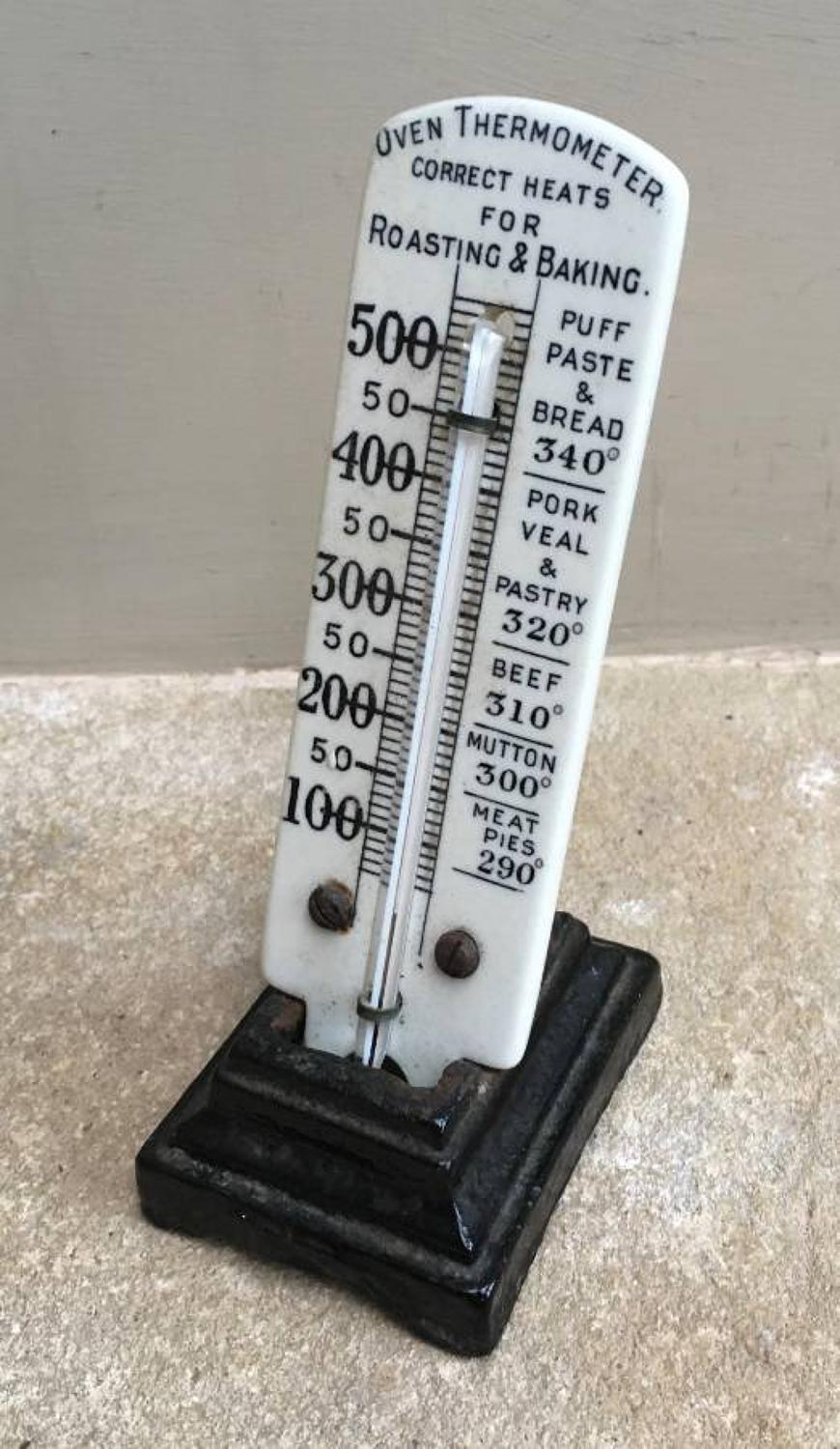 Late Victorian Cookery Thermometer with Cast Iron Stand