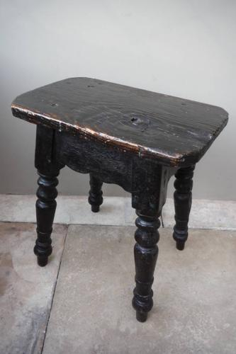 Georgian Pine Stool - Sofa or Chair Table