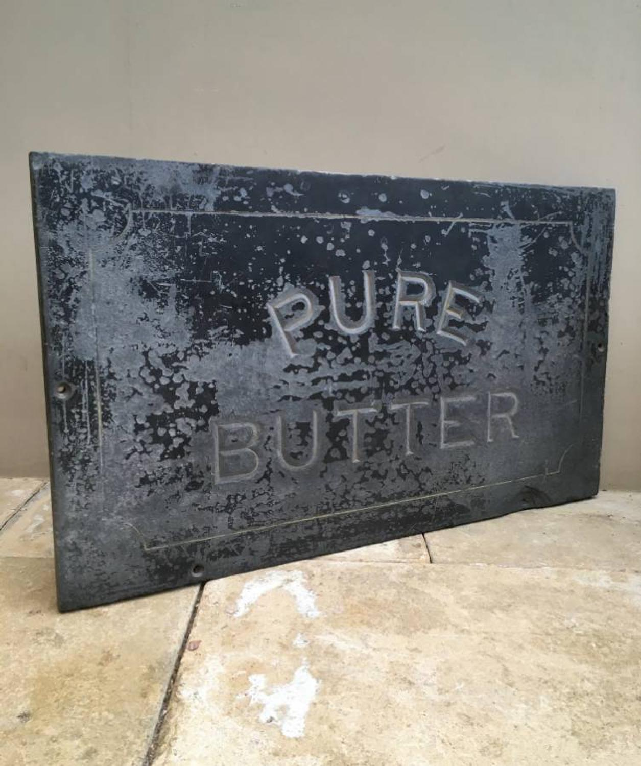 Large Victorian Welsh Dairy Slate - Pure Butter