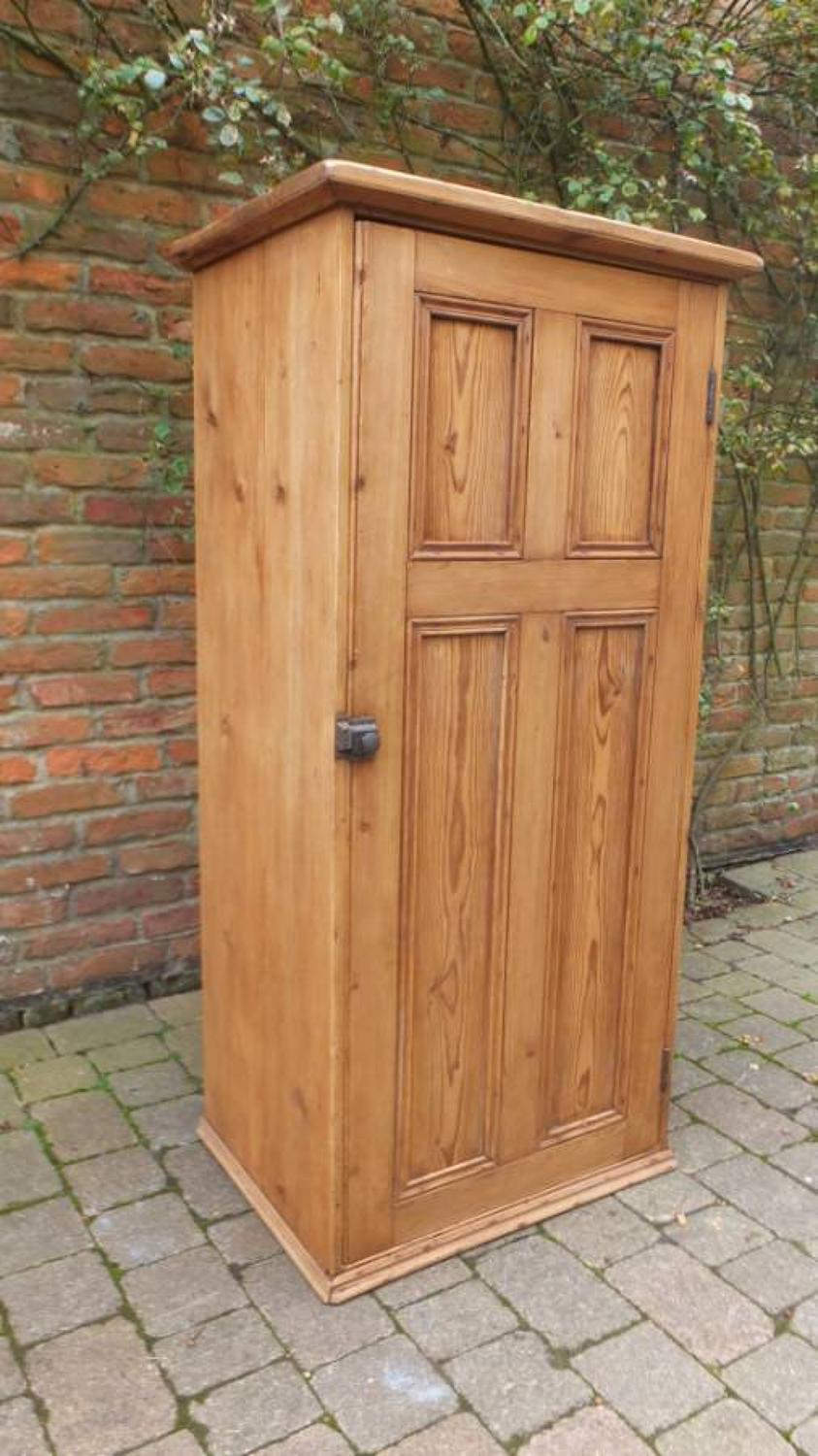 Late Victorian Pine Panelled Front Cupboard