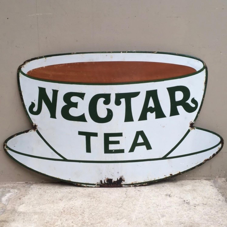 Rarer Small Size Early 20th Century Enamel Sign - Nectar Tea
