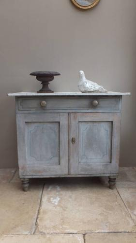 Pretty Victorian Painted Pine Cupboard