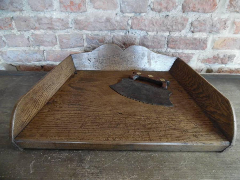 Late Victorian Oak Herb Chopping Tray