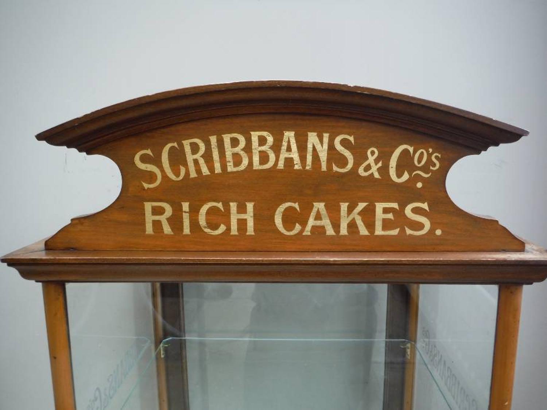 Superb Edwardian Scribbons Cake Cabinet with Pediment