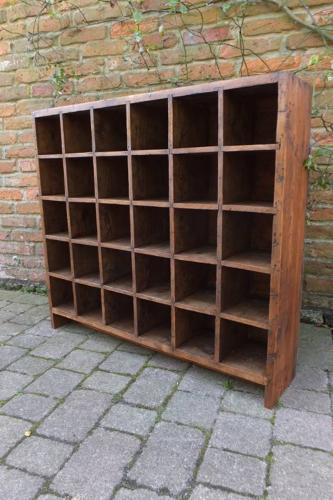 Victorian Pine Set of Thirty Pigeon Holes