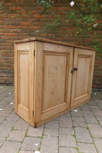Victorian Pine Cupboard Sideboard with Internal Drawers
