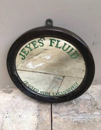 Edwardian Advertising Mirror - Jeyes Fluid