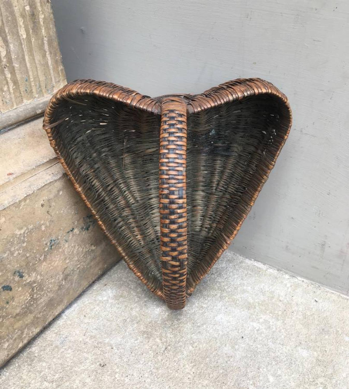 Rare Victorian Heart Shape Nut Basket