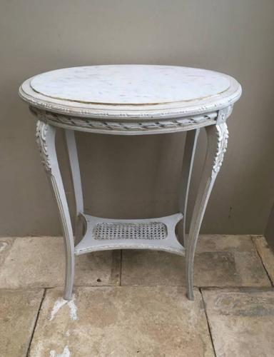 Victorian Marble Top Side Table