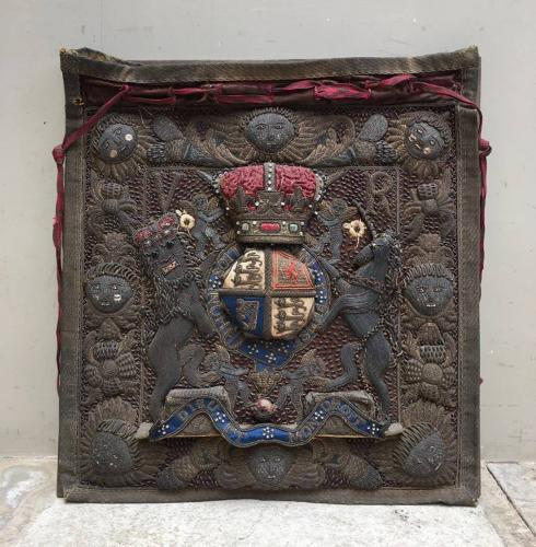 Victorian Stumpwork Lord Chancellors Ceremonial Bag Burse