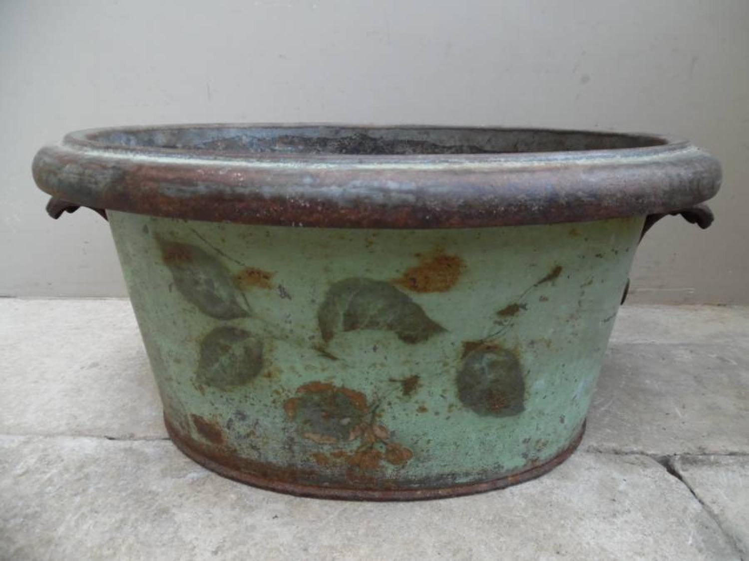 Georgian Toleware Footbath in Original Paint