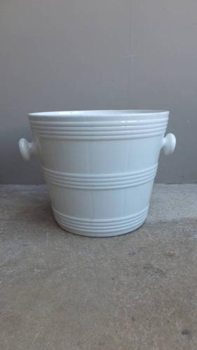 Superb Edwardian White Banded Pail Perfect Ice Bucket