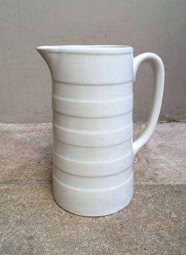Edwardian White Banded Dairy Cream Jug