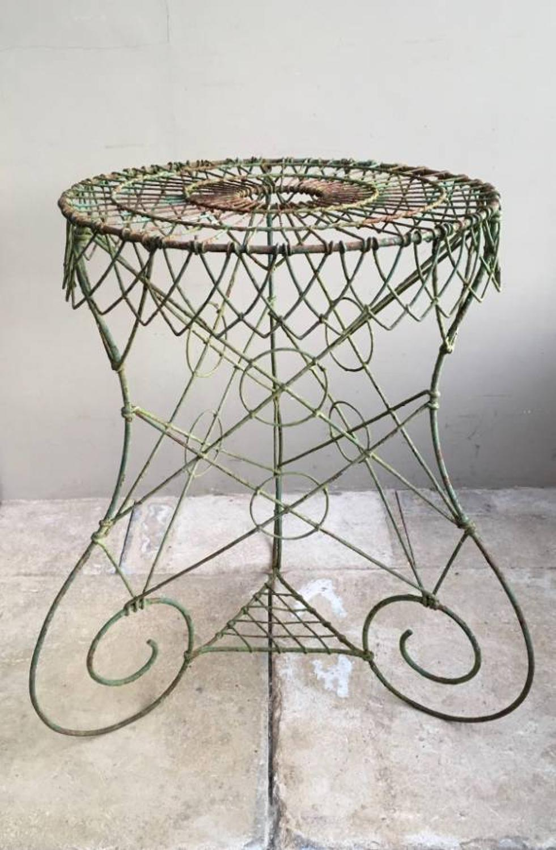 Victorian English Ornate Iron Garden Table