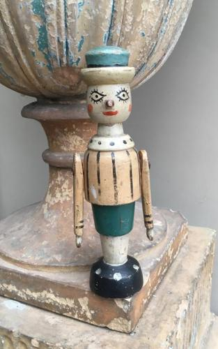 Victorian Folk Art Wooden Figure - Original Paint