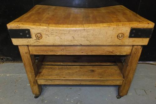 Superb Butchers Block on Original Victorian Base