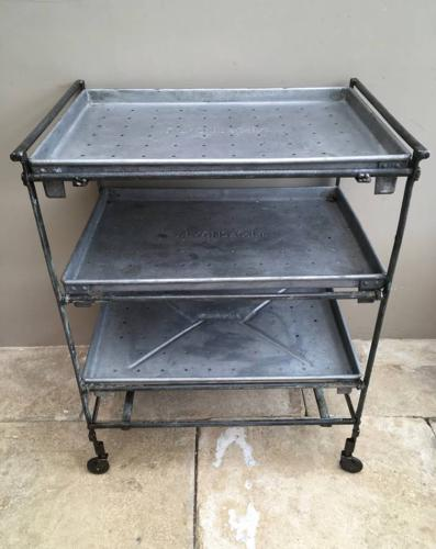 Mid Century Industrial J Lyons Cake Cooling Trolley