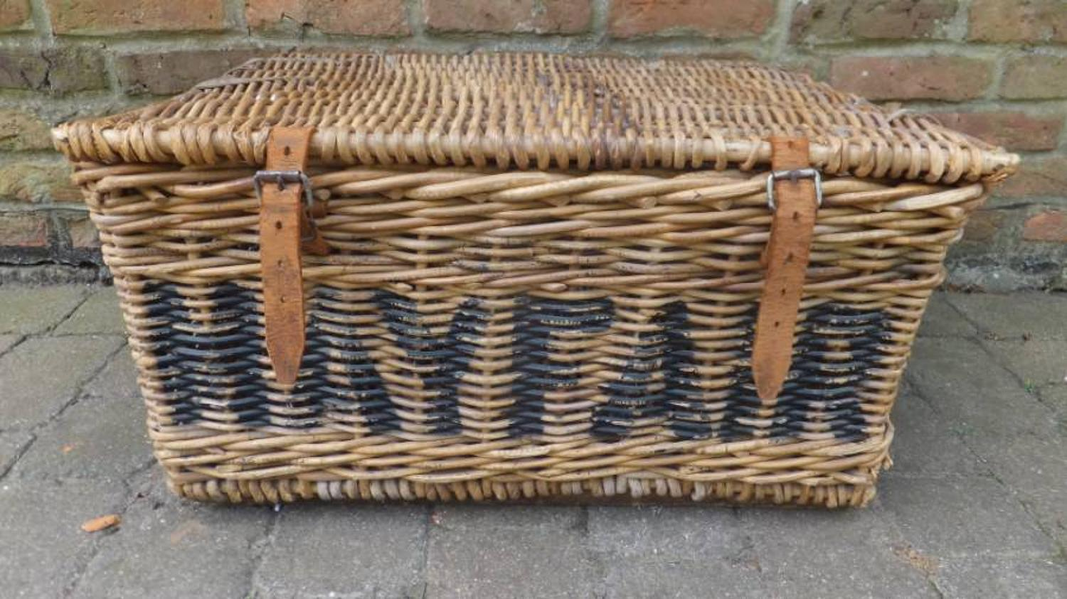 Mayfair Laundry Leather Bound Wicker Trunk