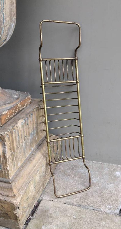 Edwardian Solid Brass Bath Rack