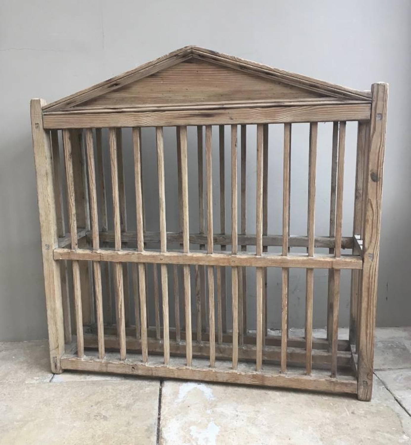 Georgian Pine Country House Plate Rack with Roof Top